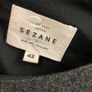 Sezane Tops - Sézane grey wool peplum top